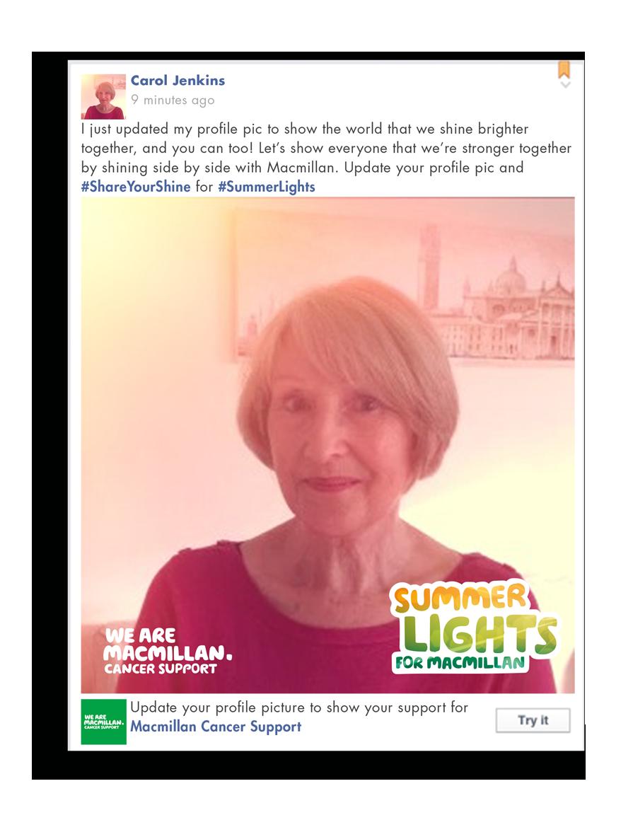 Macmillan_Summer Lights_Facebook filter
