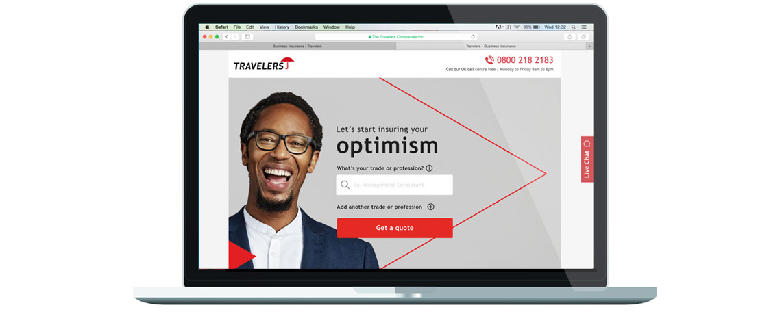 Travelers We Insure Your Optimism Quote Page